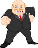 Gniewny szef (biznesmen) ilustracji