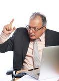 Gniewny szef w biurze obraz stock