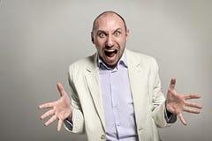 Gniewny szefa krzyk głośno obrazy stock