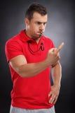 Gniewny trener. Zdjęcie Stock