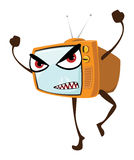 Gniewny Tv Obraz Stock