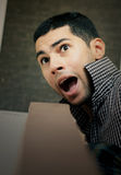 Gniewny wściekły arabski egipski młody biznesmen Zdjęcia Royalty Free
