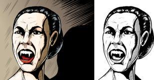 gniewny wampir Zdjęcie Stock