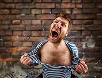 gniewny więzień Zdjęcia Stock