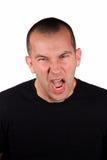 gniewny wyrażenie Zdjęcia Stock
