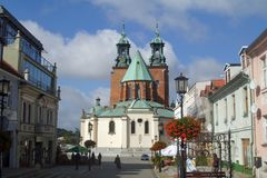 Gniezno, Poland, gothic cathedral Royalty Free Stock Photography