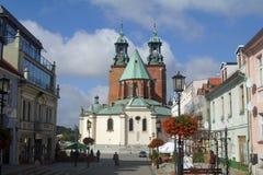 Gniezno Polen, gotisk domkyrka Royaltyfri Fotografi