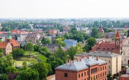 Gniezno, Pologne - vue pour le panorama de ville chez Gniezno Images stock