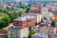 Gniezno, Pologne - vue pour le panorama de ville chez Gniezno Image libre de droits