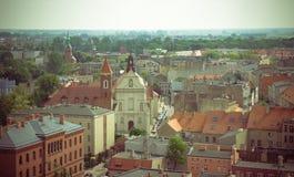 Gniezno, Pologne - vue pour le panorama de ville chez Gniezno Photo libre de droits
