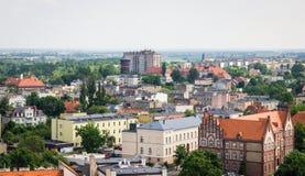 Gniezno, Pologne - vue pour le panorama de ville chez Gniezno Photographie stock