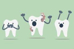 gnijący ząb ilustracji