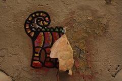 Gnijący graffiti pies Zdjęcie Stock