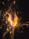 Gnistor av pyroteknik Arkivfoton
