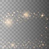 Gnistor f?r stj?rnadamm vektor illustrationer