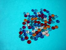 Gnistrande på blått Royaltyfri Foto