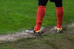 GNK Dinamo Zagreb VS FC Sevilla Arbiter pozycja na linii Zdjęcia Royalty Free
