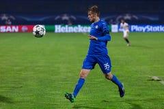 GNK Dinamo Zagreb VS FC Sevilla.  Borna SOSA (35) runing for ball. Royalty Free Stock Image