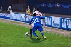 GNK Dinamo Zagreb VS FC Sevilla Leonardo SIGALI & x28; 22& x29; i Franco VASQUEZ & x28; 22& x29; Zdjęcia Stock