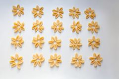 Gnocchetti pasta abstract floral pattern stock photography
