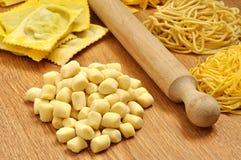 Gnocchi, świeży włoski makaron Zdjęcie Stock