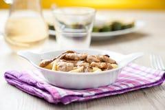 Gnocchi σε ένα πιάτο Στοκ Εικόνα