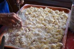 gnocchi σπιτικό Στοκ φωτογραφίες με δικαίωμα ελεύθερης χρήσης