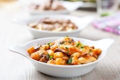 Gnocchi в блюде стоковые фото