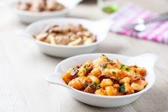 Gnocchi в блюде стоковое фото