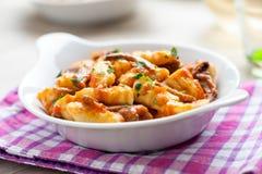 Gnocchi в блюде Стоковая Фотография