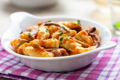Gnocchi в блюде Стоковое фото RF