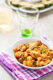 Gnocchi в блюде Стоковые Фотографии RF