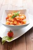 Gnocchi al pomodoro Stock Image