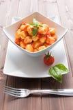 Gnocchi al pomodoro Royalty Free Stock Images