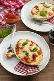 Gnocchi alla sorrentina - Homemade gnocchi with tomato sauce bas Stock Photo