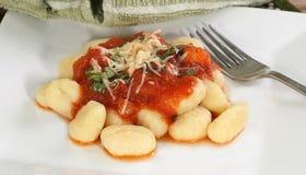 Gnocchi in arrabbatia sauce Stock Photography