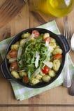 Gnocchi avec le pesto Photos libres de droits