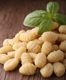 Gnocchi and basil Royalty Free Stock Photography