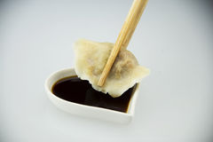 Gnocchi bolliti pasta tradizionale cinese asiatica, Fotografie Stock Libere da Diritti