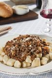 Gnocchi Bolognese Stock Photo