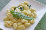 Gnocchi with butter, sage and parmesan Royalty Free Stock Photography
