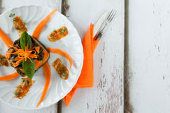 Gnocchi Chard Pumpkin Timbale Royalty Free Stock Photo