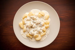 Gnocchi with cheese Royalty Free Stock Photo