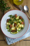 Gnocchi with chorizo Stock Images