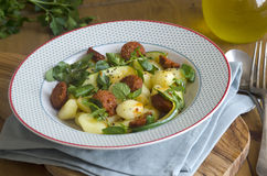 Gnocchi with chorizo Royalty Free Stock Photos