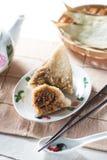 Gnocchi cinesi del riso (Nyonya) Fotografie Stock