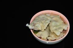 Gnocchi cinesi delle verdure della miscela Fotografia Stock