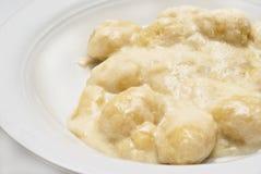 Gnocchi com molho de queijo quatro Foto de Stock Royalty Free