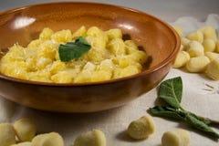 Gnocchi com queijo Imagem de Stock