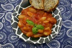 Gnocchi com um molho dos tomates Imagens de Stock Royalty Free